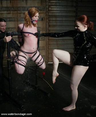 Photo number 9 from Damon Pierce and Madison Young shot for Water Bondage on Kink.com. Featuring Damon Pierce and Madison Young in hardcore BDSM & Fetish porn.