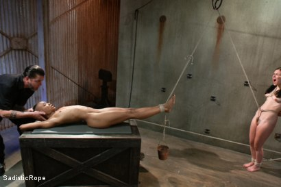 Photo number 7 from Double Trouble shot for Sadistic Rope on Kink.com. Featuring Juliette March and Nikki Darling in hardcore BDSM & Fetish porn.