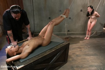 Photo number 11 from Double Trouble shot for Sadistic Rope on Kink.com. Featuring Juliette March and Nikki Darling in hardcore BDSM & Fetish porn.
