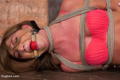 Photo number 2 from Beautiful Cassandra Nix Bound and Humiliated shot for Hogtied on Kink.com. Featuring Cassandra Nix in hardcore BDSM & Fetish porn.