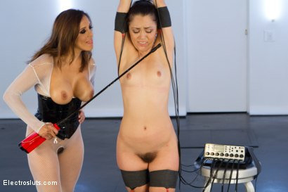 Photo number 4 from Kristina Rose Gets Cattle Prodded! shot for Electro Sluts on Kink.com. Featuring Francesca Le  and Kristina Rose in hardcore BDSM & Fetish porn.