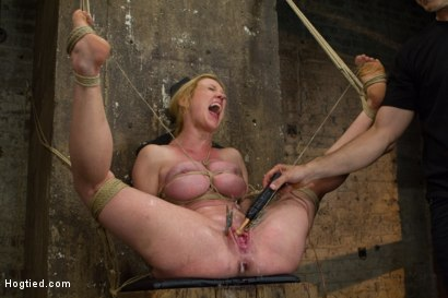 Photo number 9 from Gorgeous Squirting Orgasmic Rope Slut Gets Bound and Defiled shot for Hogtied on Kink.com. Featuring Dee Williams in hardcore BDSM & Fetish porn.