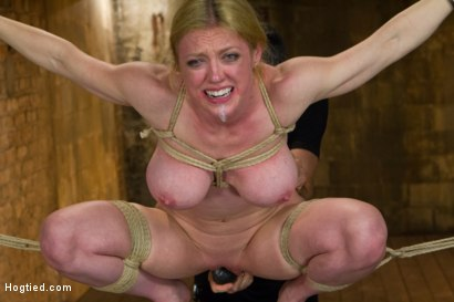 Photo number 14 from Gorgeous Squirting Orgasmic Rope Slut Gets Bound and Defiled shot for Hogtied on Kink.com. Featuring Dee Williams in hardcore BDSM & Fetish porn.