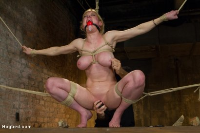Photo number 13 from Gorgeous Squirting Orgasmic Rope Slut Gets Bound and Defiled shot for Hogtied on Kink.com. Featuring Dee Williams in hardcore BDSM & Fetish porn.
