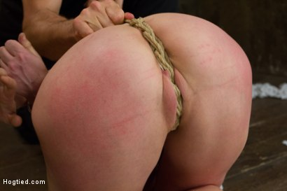 Photo number 3 from Gorgeous Squirting Orgasmic Rope Slut Gets Bound and Defiled shot for Hogtied on Kink.com. Featuring Dee Williams in hardcore BDSM & Fetish porn.