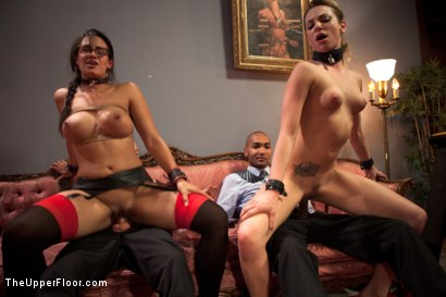Photo number 5 from Dahlia's Redemption shot for The Upper Floor on Kink.com. Featuring Owen Gray, Dahlia Sky, Penny Barber, Steven O'Master, Mickey Mod and Nerine Mechanique in hardcore BDSM & Fetish porn.
