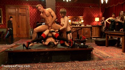 Photo number 1 from Showing Off the Newest Anal Sex House Slave shot for The Upper Floor on Kink.com. Featuring Bill Bailey, Casey Calvert  and Alani Pi in hardcore BDSM & Fetish porn.