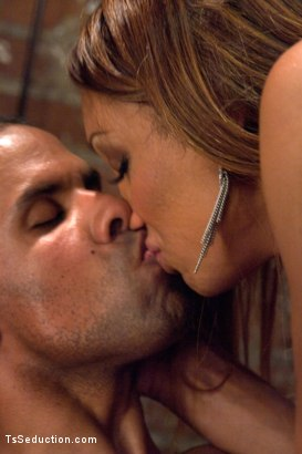 Photo number 2 from Protecting His Life, Seducing His Cock shot for TS Seduction on Kink.com. Featuring Yasmin Lee and Robert Axel in hardcore BDSM & Fetish porn.