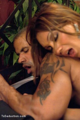 Photo number 10 from Protecting His Life, Seducing His Cock shot for TS Seduction on Kink.com. Featuring Yasmin Lee and Robert Axel in hardcore BDSM & Fetish porn.