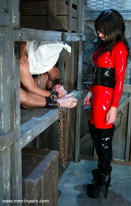Photo number 1 from Mistress Aradia and Pussybottomboy shot for Men In Pain on Kink.com. Featuring Mistress Aradia and Pussybottomboy in hardcore BDSM & Fetish porn.