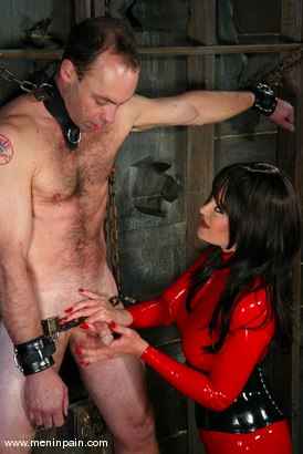 Photo number 12 from Mistress Aradia and Pussybottomboy shot for Men In Pain on Kink.com. Featuring Mistress Aradia and Pussybottomboy in hardcore BDSM & Fetish porn.