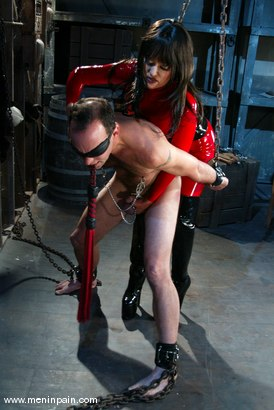 Photo number 3 from Mistress Aradia and Pussybottomboy shot for Men In Pain on Kink.com. Featuring Mistress Aradia and Pussybottomboy in hardcore BDSM & Fetish porn.