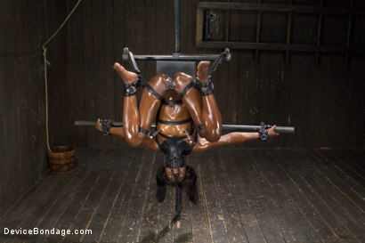 Photo number 14 from Fragments IX shot for Device Bondage on Kink.com. Featuring Ana Foxxx and Ranie Mae in hardcore BDSM & Fetish porn.