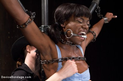 Photo number 8 from Fragments IX shot for Device Bondage on Kink.com. Featuring Ana Foxxx and Ranie Mae in hardcore BDSM & Fetish porn.