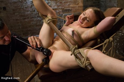 Photo number 13 from Two Gorgeous Blonde Rope Sluts Made to Orgasm in Rough Bondage shot for Hogtied on Kink.com. Featuring Danielle Delaunay and Molly O'Dell in hardcore BDSM & Fetish porn.
