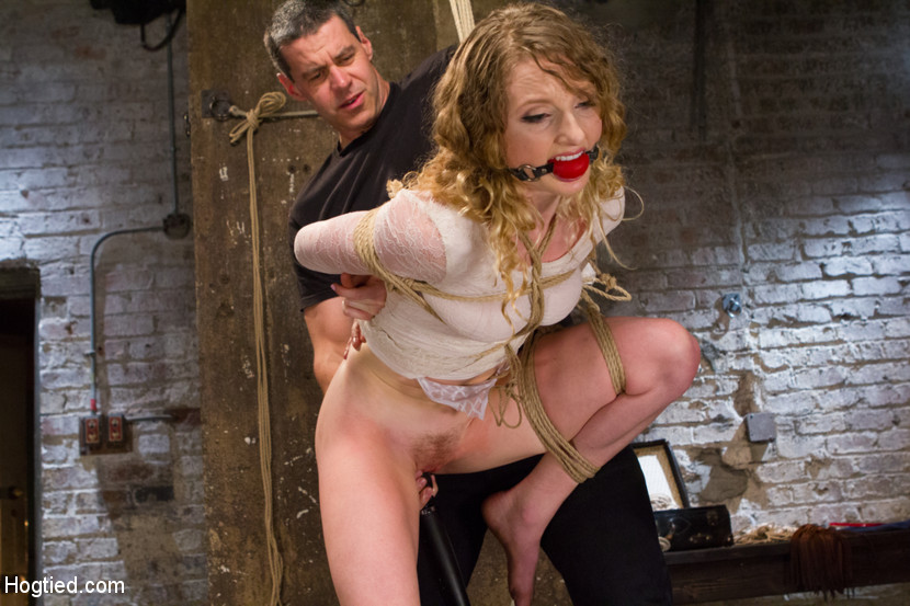 Naked blonde girl bondage orgasm