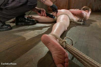 Photo number 13 from 18 Year Old Newcomer is Destroyed!! shot for Sadistic Rope on Kink.com. Featuring Jessie Parker in hardcore BDSM & Fetish porn.