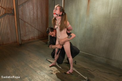 Photo number 3 from 18 Year Old Newcomer is Destroyed!! shot for Sadistic Rope on Kink.com. Featuring Jessie Parker in hardcore BDSM & Fetish porn.