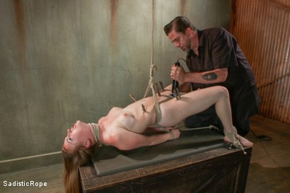 Photo number 6 from 18 Year Old Newcomer is Destroyed!! shot for Sadistic Rope on Kink.com. Featuring Jessie Parker in hardcore BDSM & Fetish porn.