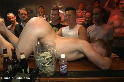 Photo number 10 from Ripped stud with a giant cock get used in a crowded bar shot for Bound in Public on Kink.com. Featuring Christian Wilde and Doug Acre in hardcore BDSM & Fetish porn.