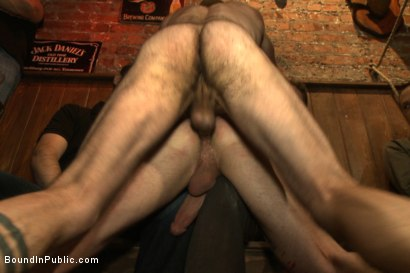 Photo number 6 from Wax and Gang Bang a Muscled Stud with a Fat Cock shot for Bound in Public on Kink.com. Featuring Christian Wilde and Doug Acre in hardcore BDSM & Fetish porn.
