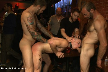 Photo number 8 from Wax and Gang Bang a Muscled Stud with a Fat Cock shot for Bound in Public on Kink.com. Featuring Christian Wilde and Doug Acre in hardcore BDSM & Fetish porn.