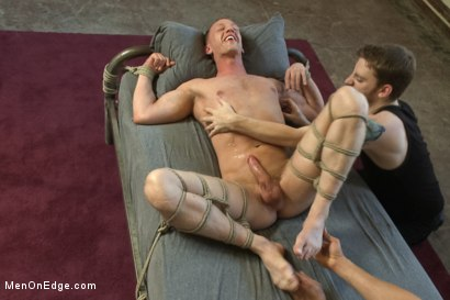 Photo number 14 from Vertical Suspension, Tickle Torment and Extreme Edging shot for Men On Edge on Kink.com. Featuring JR Matthews in hardcore BDSM & Fetish porn.