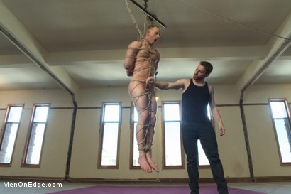 Photo number 8 from Vertical Suspension, Tickle Torment and Extreme Edging shot for Men On Edge on Kink.com. Featuring JR Matthews in hardcore BDSM & Fetish porn.