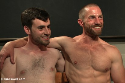 Photo number 15 from Horny professor beats, electrocutes, and fucks one of his students shot for Bound Gods on Kink.com. Featuring Adam Herst and Rowen Jackson in hardcore BDSM & Fetish porn.