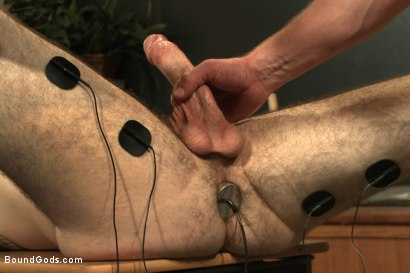 Photo number 12 from Horny professor beats, electrocutes, and fucks one of his students shot for Bound Gods on Kink.com. Featuring Adam Herst and Rowen Jackson in hardcore BDSM & Fetish porn.