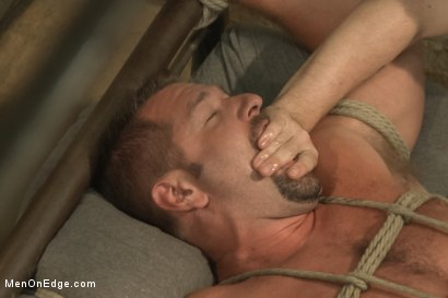 Photo number 12 from Officer Justice taken down and his giant cock edged by two perverts shot for Men On Edge on Kink.com. Featuring Andrew Justice in hardcore BDSM & Fetish porn.