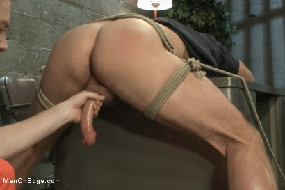 Photo number 7 from Officer Justice taken down and his giant cock edged by two perverts shot for Men On Edge on Kink.com. Featuring Andrew Justice in hardcore BDSM & Fetish porn.