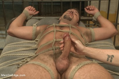 Photo number 14 from Officer Justice taken down and his giant cock edged by two perverts shot for Men On Edge on Kink.com. Featuring Andrew Justice in hardcore BDSM & Fetish porn.