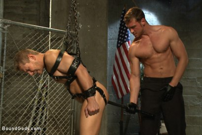 Photo number 5 from Officer Alex Adams' Filthy Fantasy shot for Bound Gods on Kink.com. Featuring Connor Maguire and Alex Adams in hardcore BDSM & Fetish porn.