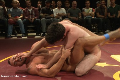 Photo number 4 from Hayden Richards Rowen Jackson vs Jessie Colter Doug Acre - Live Match shot for Naked Kombat on Kink.com. Featuring Hayden Richards, Doug Acre, Jessie Colter and Rowen Jackson in hardcore BDSM & Fetish porn.