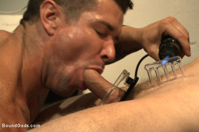 Photo number 10 from One of BIP doms is at the mercy of a horny handyman shot for Bound Gods on Kink.com. Featuring Trenton Ducati and Branden Forrest in hardcore BDSM & Fetish porn.