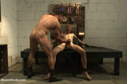 Photo number 12 from One of BIP doms is at the mercy of a horny handyman shot for Bound Gods on Kink.com. Featuring Trenton Ducati and Branden Forrest in hardcore BDSM & Fetish porn.