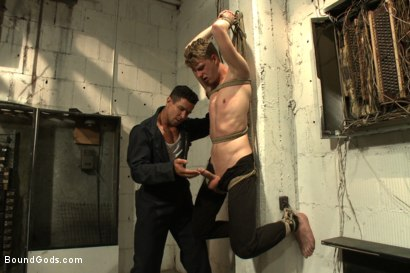 Photo number 1 from One of BIP doms is at the mercy of a horny handyman shot for Bound Gods on Kink.com. Featuring Trenton Ducati and Branden Forrest in hardcore BDSM & Fetish porn.