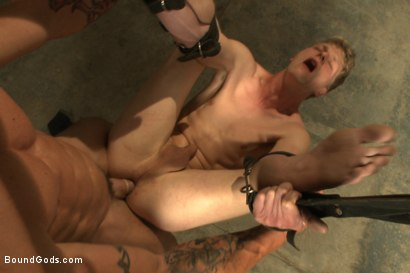 Photo number 2 from One of BIP doms is at the mercy of a horny handyman shot for Bound Gods on Kink.com. Featuring Trenton Ducati and Branden Forrest in hardcore BDSM & Fetish porn.