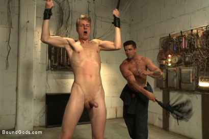 Photo number 4 from One of BIP doms is at the mercy of a horny handyman shot for Bound Gods on Kink.com. Featuring Trenton Ducati and Branden Forrest in hardcore BDSM & Fetish porn.