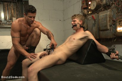 Photo number 11 from One of BIP doms is at the mercy of a horny handyman shot for Bound Gods on Kink.com. Featuring Trenton Ducati and Branden Forrest in hardcore BDSM & Fetish porn.