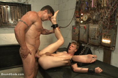 Photo number 13 from One of BIP doms is at the mercy of a horny handyman shot for Bound Gods on Kink.com. Featuring Trenton Ducati and Branden Forrest in hardcore BDSM & Fetish porn.