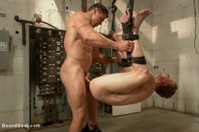 Photo number 3 from One of BIP doms is at the mercy of a horny handyman shot for Bound Gods on Kink.com. Featuring Trenton Ducati and Branden Forrest in hardcore BDSM & Fetish porn.