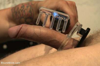 Photo number 8 from One of BIP doms is at the mercy of a horny handyman shot for Bound Gods on Kink.com. Featuring Trenton Ducati and Branden Forrest in hardcore BDSM & Fetish porn.