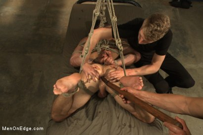 Photo number 11 from Tables are turned for a perverted electrician  shot for Men On Edge on Kink.com. Featuring Trenton Ducati in hardcore BDSM & Fetish porn.