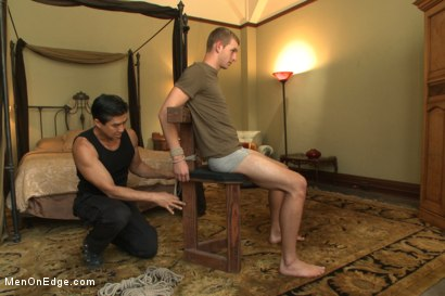 Photo number 1 from Hot 23 year old's super hung cock drips pre-cums like a fountain shot for Men On Edge on Kink.com. Featuring Rex Wolfe in hardcore BDSM & Fetish porn.