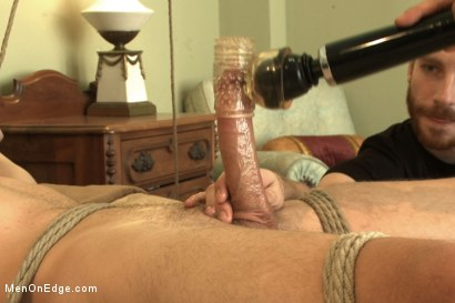 Photo number 12 from Hot 23 year old's super hung cock drips pre-cums like a fountain shot for Men On Edge on Kink.com. Featuring Rex Wolfe in hardcore BDSM & Fetish porn.