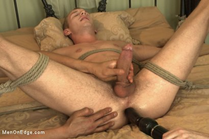 Photo number 13 from Hot 23 year old's super hung cock drips pre-cums like a fountain shot for Men On Edge on Kink.com. Featuring Rex Wolfe in hardcore BDSM & Fetish porn.
