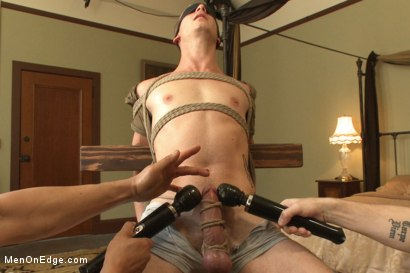 Photo number 5 from Hot 23 year old's super hung cock drips pre-cums like a fountain shot for Men On Edge on Kink.com. Featuring Rex Wolfe in hardcore BDSM & Fetish porn.