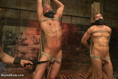 Photo number 3 from The Veteran & The Newcomer - Live Shoot shot for Bound Gods on Kink.com. Featuring Van Darkholme, Jeremy Stevens, Alex Adams and Chad Rock in hardcore BDSM & Fetish porn.